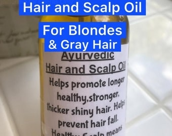 Ayurvedic Hair and scalp oil FOR BLONDES this will not change your hair color or darken grey hair. Prevents hair fall and promotes long hair