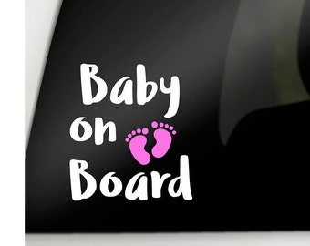 Baby on board decal, car window decal, Baby on board sticker, car baby decal, baby car decal, car window sticker, family car window decal
