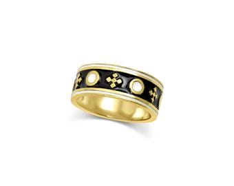 Stripe & Dot Band Ring