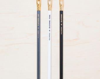 3 x Palomino Blackwing Pencils Original, 602, Pearl – Drawing or Writing Pencil Incense cedar wood