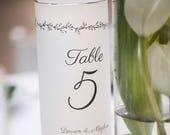 Luminary Seating Plan - Wedding Candle Luminary - Script Table Number - Table Number Ideas - Table Numbers - Wedding Luminary - Wedding Sign