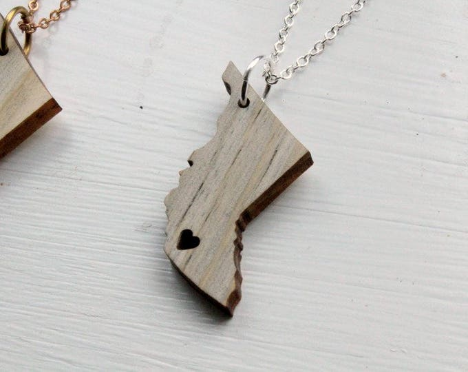 British Columbia Love // Beetle Kill Pine Necklace