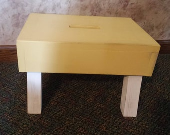 Rustic wooden step stool