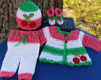Ready Preemie Girl Outfit Spring Coming Home Premie Outfit Premie Girl photo prop Crochet Premie Go Home Girl Preemie girl Clothes