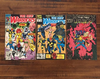 1992-93 The New Warriors #19, #22 and #34 Comic Books / FN-VG/ Choose One or All Three for a Discounted Price!!!