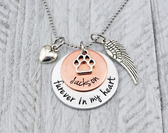 Pet Memorial Jewelry - Dog memorial Necklace - Cat Memorial Necklace - Pet Loss Gift - Pet Memorial Necklace - Pet Remembrance Necklace