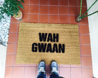 Wah Gwaan Jamaican Doormat by One Summer