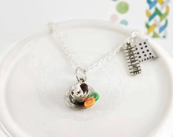 Necklace chocolate cup and delicious charms