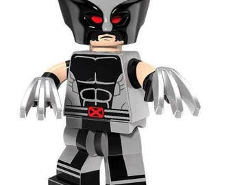 WOLVERINE X-Force version Custom Minifigure 100% Lego Compatible! Marvel Comics X-Men Character