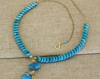 BN213- Sleeping Beauty Turquoise necklace