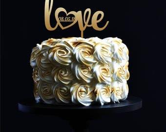 Custom cake topper Love