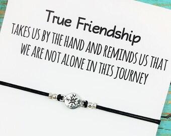 Best Friend Bracelet | Friendship Bracelet | Compass Bracelet | Best Friend Gift | BFF Compass Bracelet | Gift for Best Friend