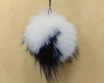 Unique Fox Fur Pom Pom, Bag Pom Pom,Fur keychain F689