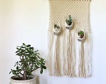 Macrame Triple Plant Pouch Tutorial Download for Beginners | Macrame Pattern Download Hanging Planter | Macrame DIY | Macrame Wall Hanging