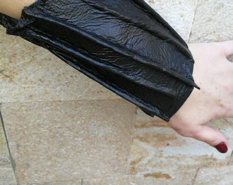 Black leather bracelet, genuine leather wristband, first class leather cuff bracelet, wrist band,