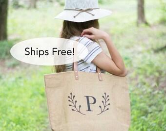 Monogrammed Weekender Bag for Women   Large Tote Bag   Gifts for Her Under 50   Monogrammed Gift For Teen