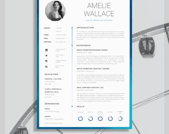 "Resume Template for Word | Printable CV for Word | High Impact CV + Cover Letter + Advice | DIY Printable | The ""Strand"" Resume"