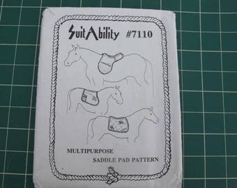 Horse Saddle Pad - Multipurpose Pattern by SuitAbility 7110 (c) 1992