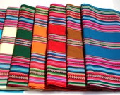 SALE 15% OFF* Large Size Premium Genuine Aguayo Bolivian Peruvian fabric 98''x49'' (250x125 cm.) Tribal Ethnic Stripy woven textile, blanket