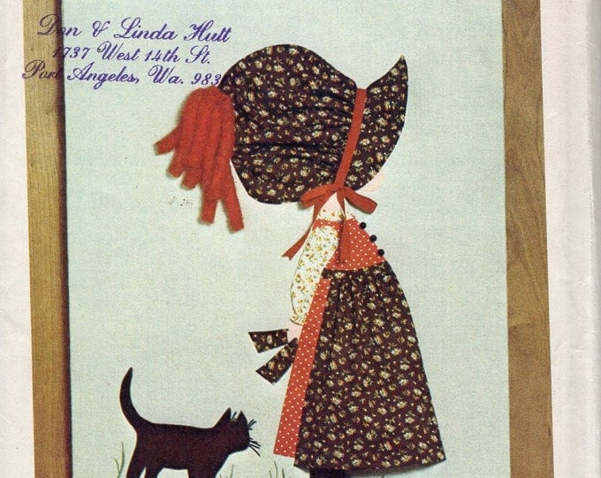 Simplicity 6544 Vintage Retro 1970s 70s Holly Hobbie Transfer Wall Quilt Doll Cat Uncut Original Sewing Pattern Free Us Ship