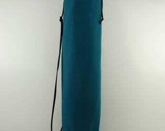 Teal Cotton Duck Yoga Pilates Mat Bag