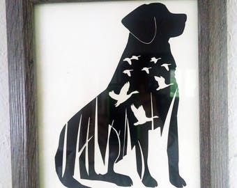 Labrador Silhouette - Black, Yellow, and Chocolate