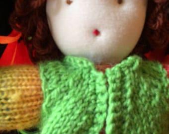 Rainbow Knit Waldorf Doll
