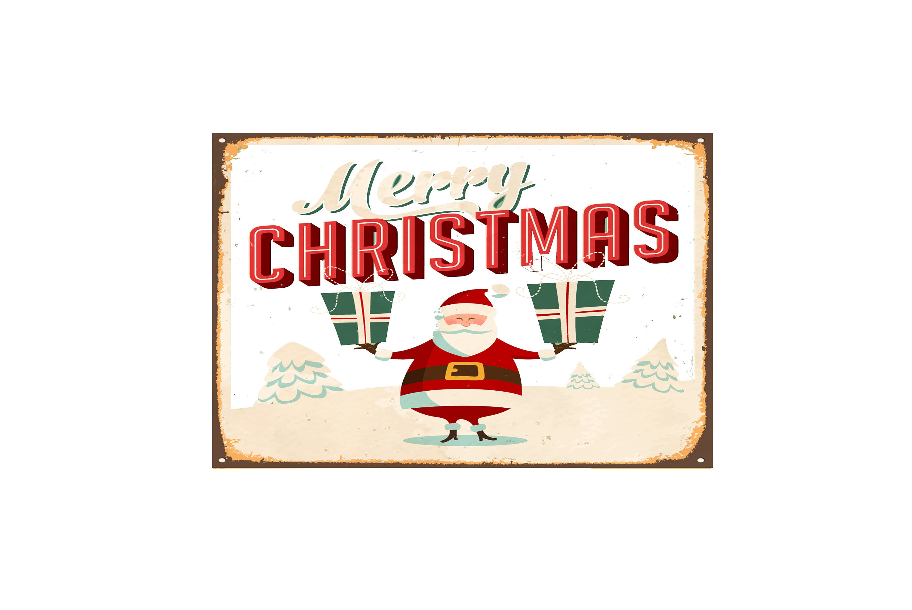 Merry christmas metal sign signs