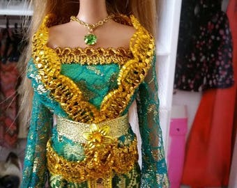 Green Goddess Barbie- Barbie Clothes- Barbie Dresses- Barbie Outfits