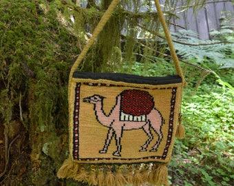 Vintage Camel Carpet Bag