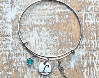 Feather - boho - feather charm - feather bracelet - feather jewelry - boho bracelet - feather bangle - boho jewelry -