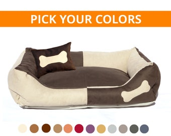 Dog Bed Custom made - choose color to match your interior