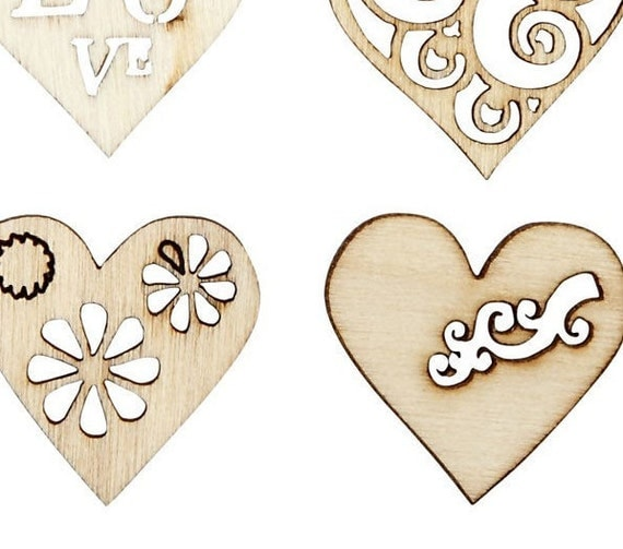 45 wooden hearts to personalise and make you own jewelry for Design your own wooden ring