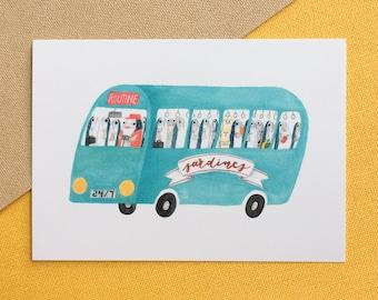 Sardine Bus Postcard
