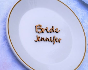 Wooden name place setting, wooden wedding place name, wedding place setting , table setting, name place setting wedding setting card