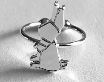 Rabbit Ring, Rabbit Gift for Her, Fashion Jewelry, Easter