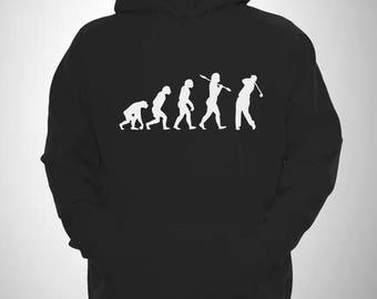 Golf Hoody Evolution of man Golfing Hooded Sweatshirt