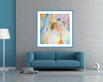Giclée Canvas Print, Abstract Art, Abstract Painting,  Red Yellow Blue Large Wall Art, Print Canvas Painting, Print Modern Art, Wall Decor