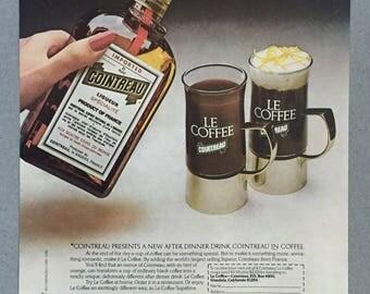 1980 Cointreau Liqueur Print Ad - Le Coffee