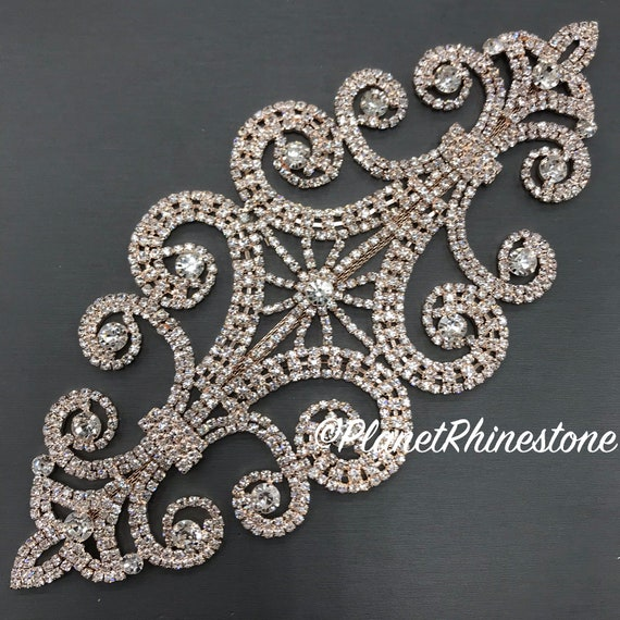 Rose Gold Rhinestone Applique #A-05