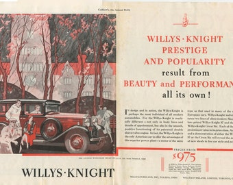 1931 Willys-Knight Sedan Deluxe Ad (30-COL-01)