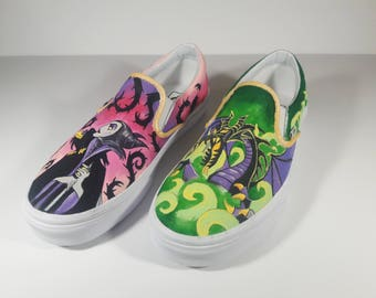 Custom Maleficent Painted Shoes