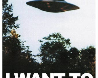 "THE X-FILES Tv Poster ""I Want to Believe"" Mulder's Office"