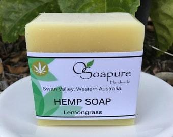 Hemp Seed Oil Soap - Lemongrass | Cold Process Handmade