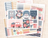 Merry and Bright - Planner sticker kit / 6 sheets - Erin Condren, Happy Planner