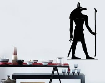 Wall Art Mural Ancient Egyptian God Anubis Museum and School Decor (2701dn)