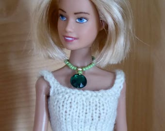 beads and strass necklace for Barbie - handmade - 29 cm doll - 11'' to 11,5 ''doll - fashion royalty-monster high