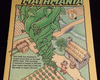 Vintage 1990's Highlights Mathmania Book, clean & UNUSED