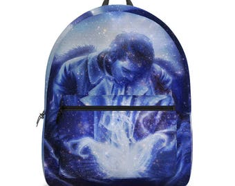 Supernatural Castiel Backpack, Angel in Blue