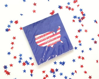 4th of july paper napkins. 4th of july party decor. 4th of july party supplies. patriotic decor. 4th of july party plates. patriotic supply